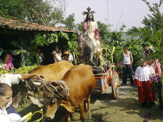 Palm Sunday Celebration in Escazu, Costa Rica