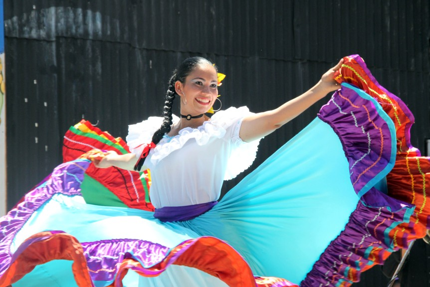 Costa Rica's traditional dance-clothing