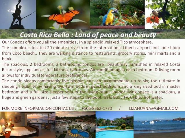 Rental Vacation in Playas del Coco, Costa Rica